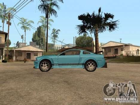 Ford Mustang GT 500 para GTA San Andreas left