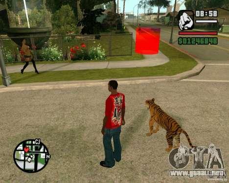 Tigre en GTA San Andreas para GTA San Andreas tercera pantalla