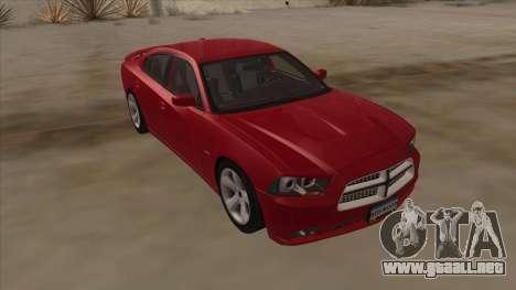 Dodge Charger RT 2011 V1.0 para la visión correcta GTA San Andreas