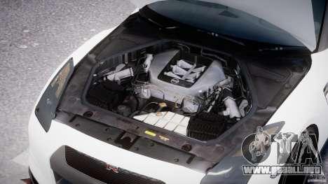Nissan GTR R35 SpecV v1.0 para GTA 4 vista desde abajo