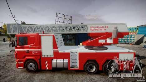 Scania Fire Ladder v1.1 Emerglights red [ELS] para GTA 4 left