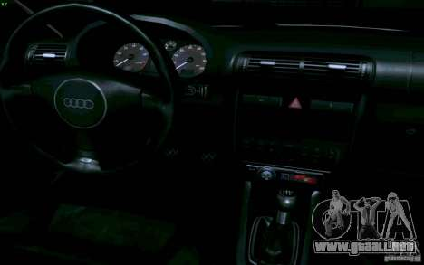 Audi A3 DUB Edition para GTA San Andreas vista hacia atrás
