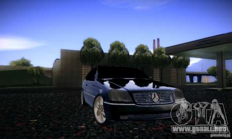 Mercedes-Benz 600SEC para vista lateral GTA San Andreas