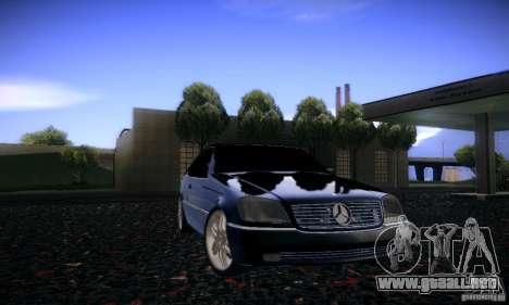 Mercedes-Benz 600SEC para vista lateral GTA San Andreas