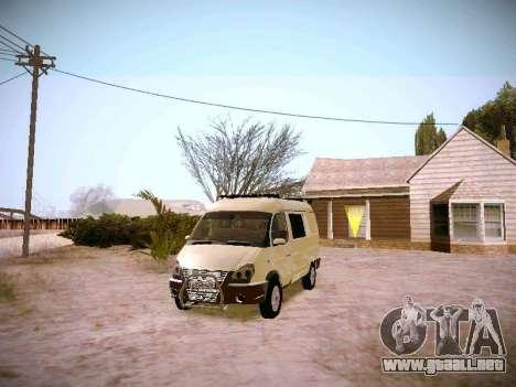GAZ 2217 negocios para GTA San Andreas vista hacia atrás