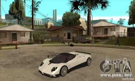 Pagani Zonda F Speed Enforcer BETA para GTA San Andreas left