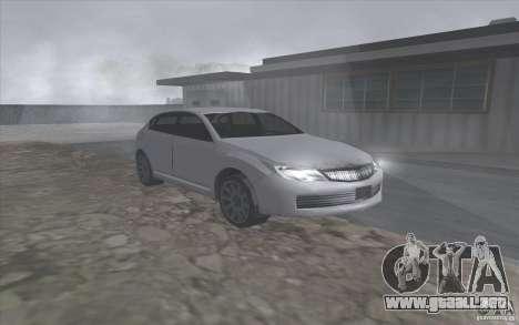 Subaru Impreza-estilo SA para GTA San Andreas left