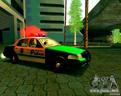 Ford Crown Victoria 2003 Police Interceptor VCPD para GTA San Andreas vista hacia atrás