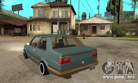 Volkswagen Jetta MKII VR6 para GTA San Andreas vista posterior izquierda