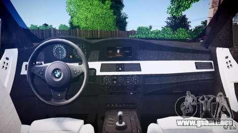 BMW E60 M5 2006 para GTA 4 visión correcta