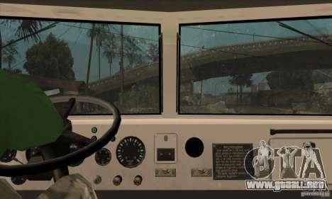 Camión KRAZ 225 para vista inferior GTA San Andreas