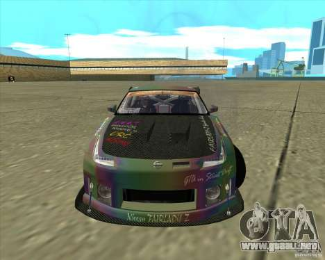 Nissan 350Z Fairlady para GTA San Andreas vista posterior izquierda