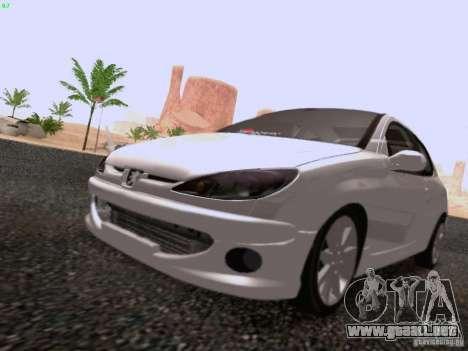 Peugeot 206 para la visión correcta GTA San Andreas