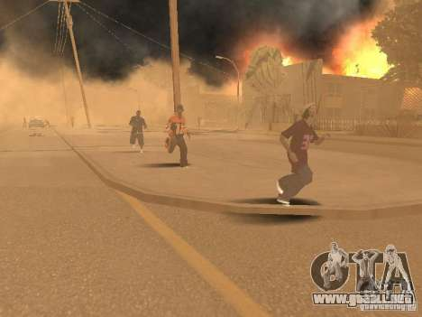 Terremoto para GTA San Andreas quinta pantalla