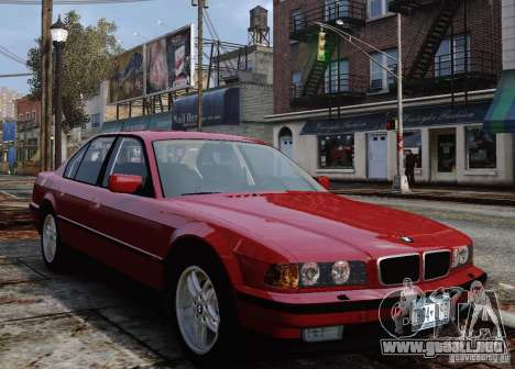 BMW 750i E38 1998 M-Packet para GTA 4