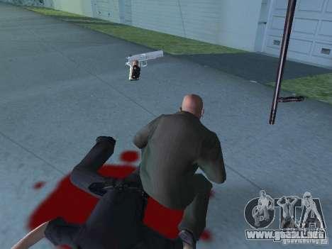 Silverballer de Hitman para GTA San Andreas sucesivamente de pantalla