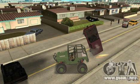 Jeep Willys Rock Crawler para GTA San Andreas left