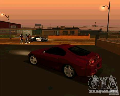 Toyota Supra NFS Most Wanted para GTA San Andreas left