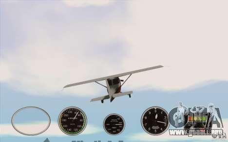 Instrumentos de aire en un avión para GTA San Andreas tercera pantalla