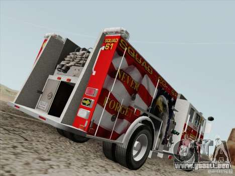 Seagrave Marauder. F.D.N.Y. Squad 61. para la visión correcta GTA San Andreas