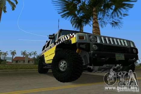 Hummer H2 SUV Taxi para GTA Vice City visión correcta