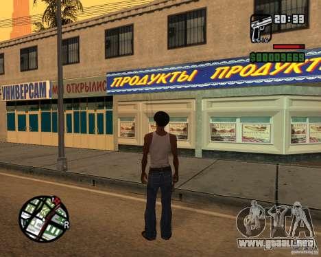 Russian shop para GTA San Andreas segunda pantalla