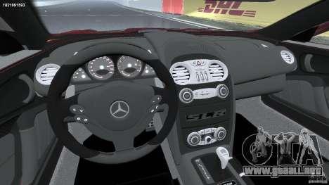 Mercedes-Benz McLaren SLR 722 v2.0 para GTA 4 vista hacia atrás