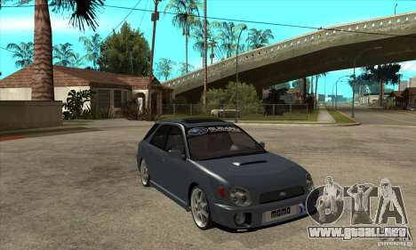 Subaru Impreza Universal para vista lateral GTA San Andreas