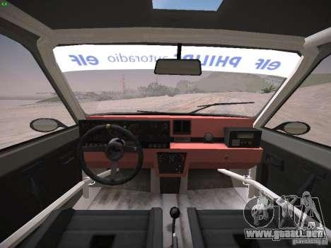Renault 5 Turbo para GTA San Andreas vista hacia atrás