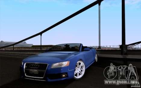 Audi S5 Cabriolet 2010 para GTA San Andreas