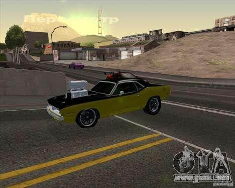 Plymouth Hemi Cuda 440 para el motor de GTA San Andreas