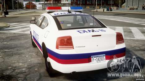 Dodge Charger Karachi City Police Dept Car [ELS] para GTA 4 Vista posterior izquierda