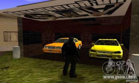 Grove Street v1.0 para GTA San Andreas sucesivamente de pantalla