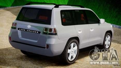 Toyota Land Cruiser 200 2007 para GTA 4 visión correcta