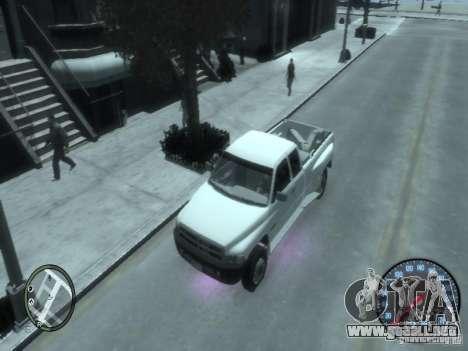 Dodge Ram 3500 para GTA 4 vista hacia atrás