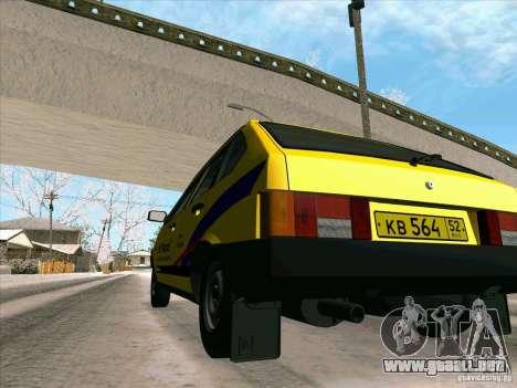 VAZ 21093i TMK Afterburner para la vista superior GTA San Andreas
