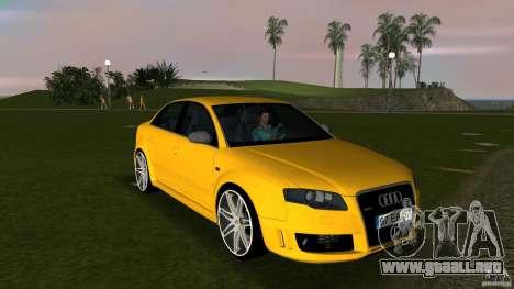 Audi RS4 para GTA Vice City vista posterior
