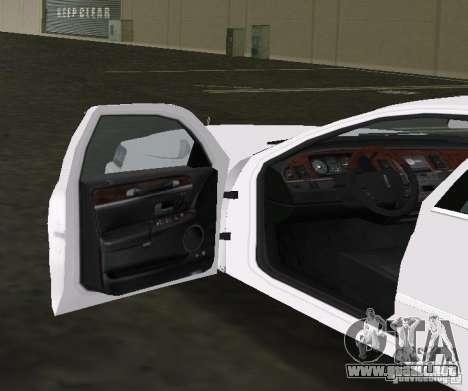 Lincoln Town Car para GTA Vice City vista posterior
