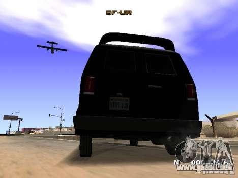 Burrito HD para GTA San Andreas vista hacia atrás