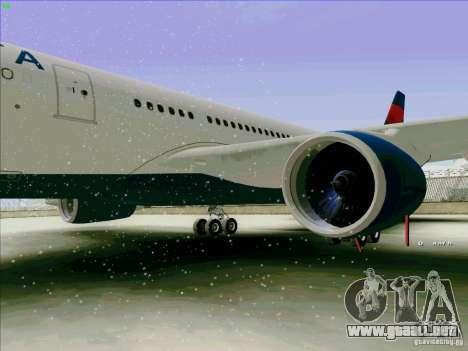 Airbus A330-200 para GTA San Andreas vista hacia atrás