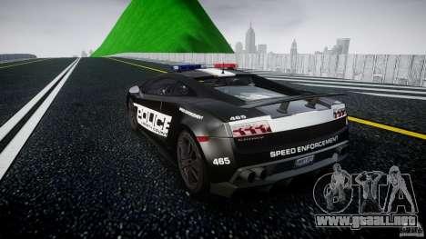 Lamborghini Gallardo LP570-4 Superleggera 2011 para GTA 4 Vista posterior izquierda