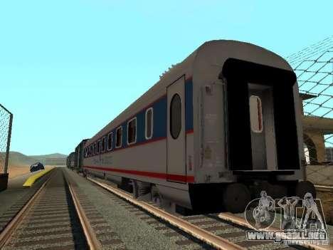 Nevsky express para GTA San Andreas vista posterior izquierda