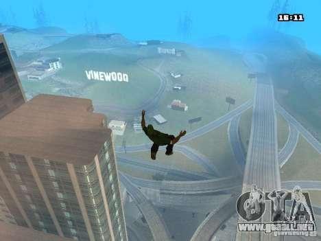 Parkour Mod para GTA San Andreas octavo de pantalla