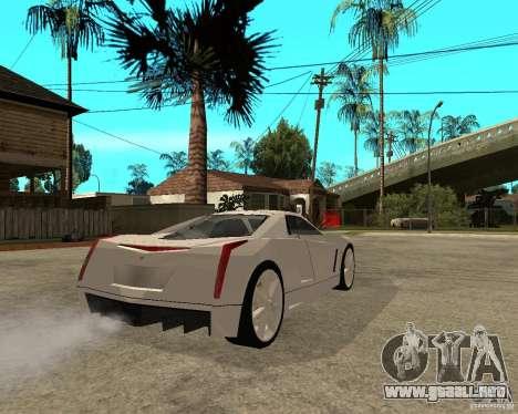 Cadillac Cien para GTA San Andreas vista posterior izquierda