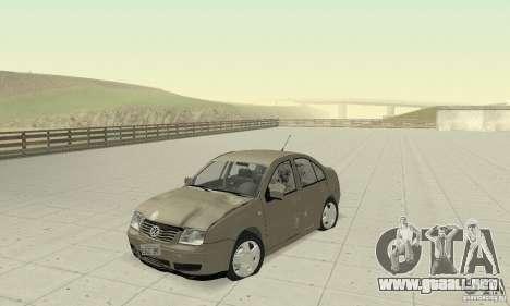 Volkswagen Bora Stock para visión interna GTA San Andreas