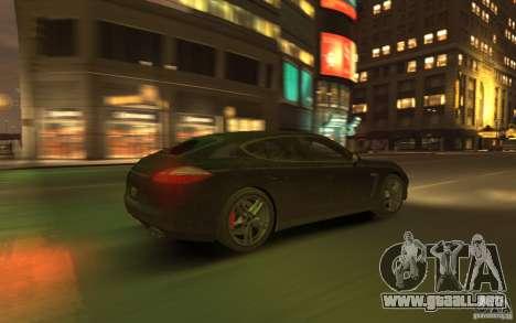 Porsche Panamera Turbo para GTA 4 vista superior