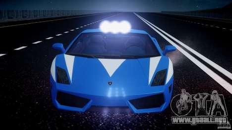 Lamborghini Gallardo LP560-4 Polizia para GTA 4 ruedas