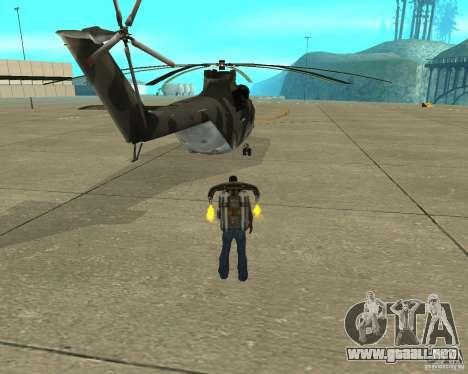 MI-26 para GTA San Andreas vista posterior izquierda
