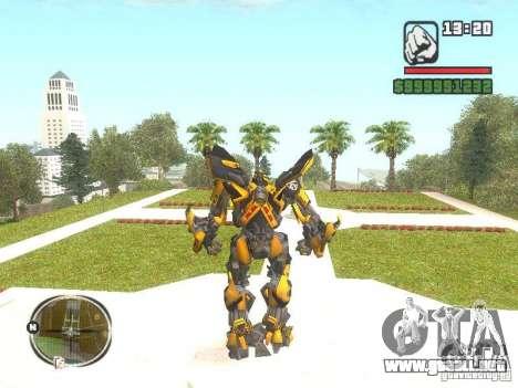 Bumblebee 2 para GTA San Andreas segunda pantalla