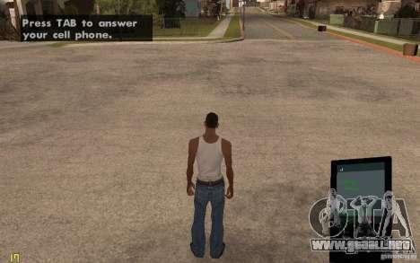 Teléfono de GTA IV para GTA San Andreas